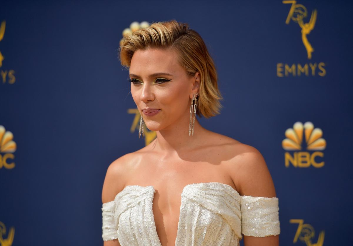 Scarlett Johansson attends the 70th Emmy Awards at Microsoft Theater on September 17, 2018 in Los Angeles, California.
