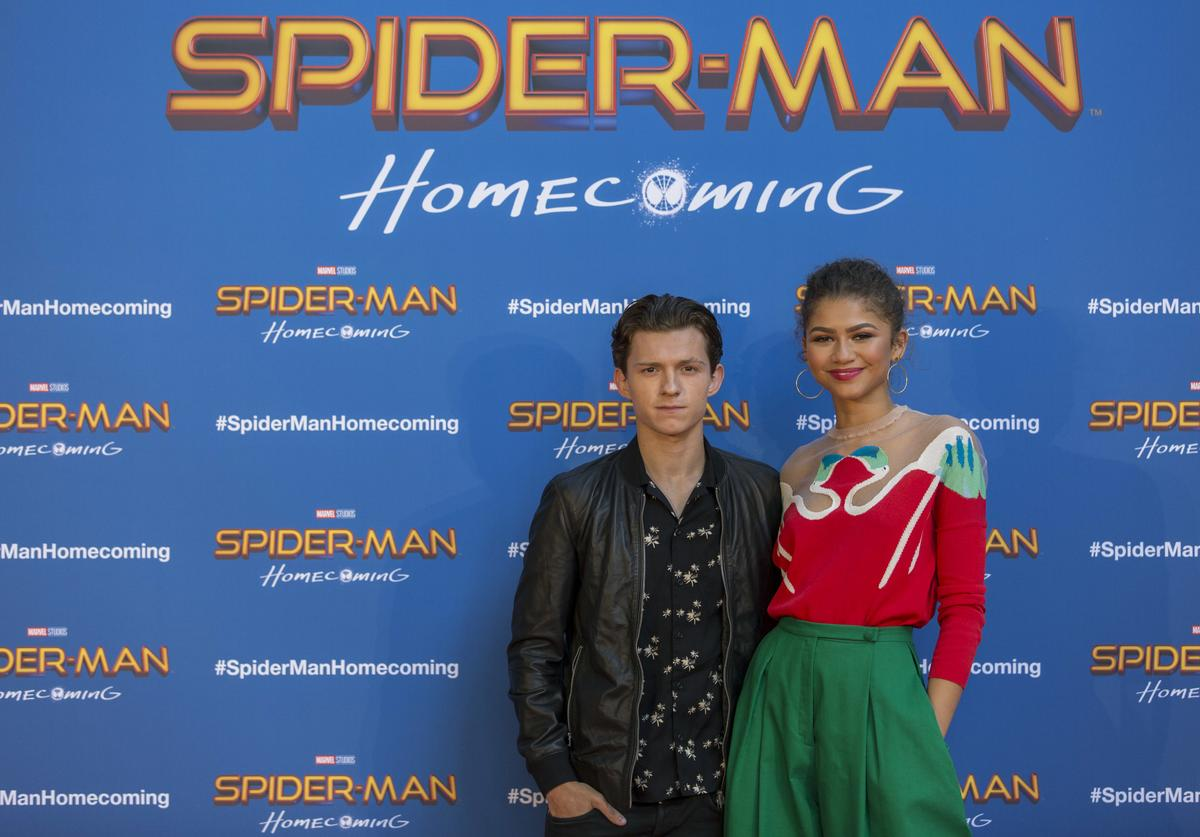 The stars and filmmakers of 'SPIDER-MAN: HOMECOMING', actors Tom Holland, Zendaya and director Jon Watts appear in Barcelona on the occasion of the CineEurope event on June 18, 2017 in Barcelona, Spain.