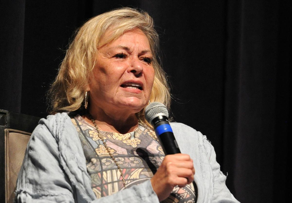 Roseanne Barr participates in 'Is America a Forgiving Nation?,'' a Yom Kippur eve talk on forgiveness hosted by the World Values Network and the Jewish Journal at Saban Theatre on September 17, 2018 in Beverly Hills, California.
