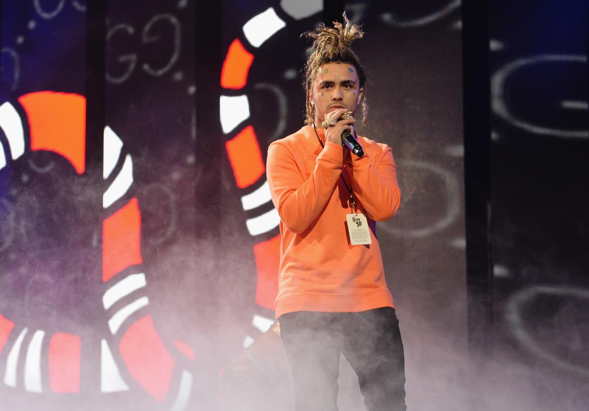 Lil Pump performs on stage during the BET Hip Hop Awards 2018 Rehearsals at Fillmore Miami Beach on October 6, 2018 in Miami Beach, Florida