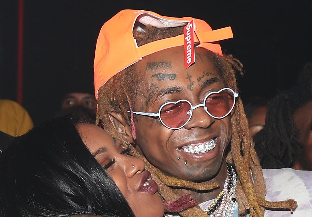 Reginae Carter and Lil Wayne attend Lil Wayne's 36th birthday party and Carter V release at HUBBLE on September 28, 2018 in Los Angeles, California.