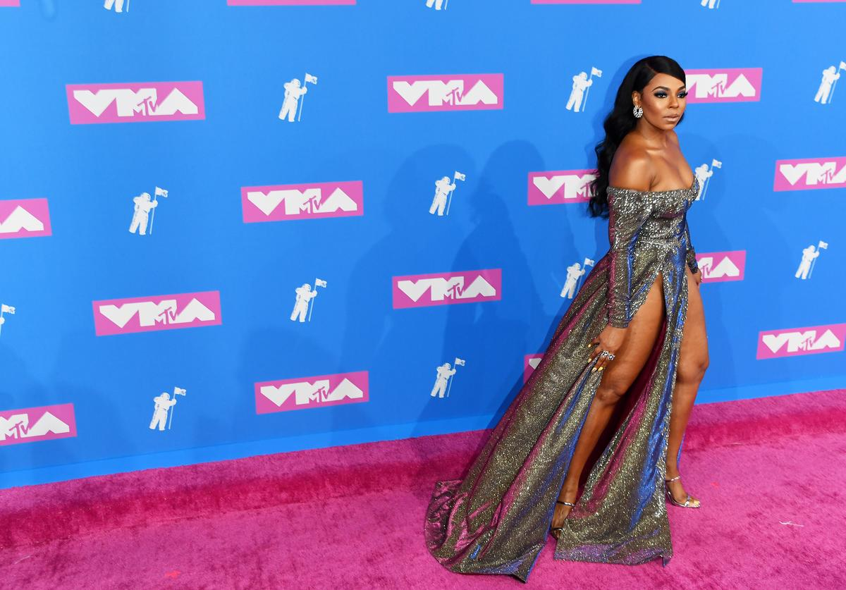 Ashanti attends the 2018 MTV Video Music Awards at Radio City Music Hall on August 20, 2018 in New York City.