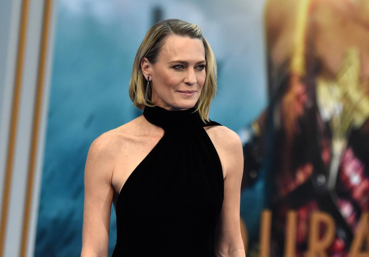 : Actor Robin Wright attends the premiere of Warner Bros. Pictures' 'Wonder Woman' at the Pantages Theatre on May 25, 2017 in Hollywood, California.