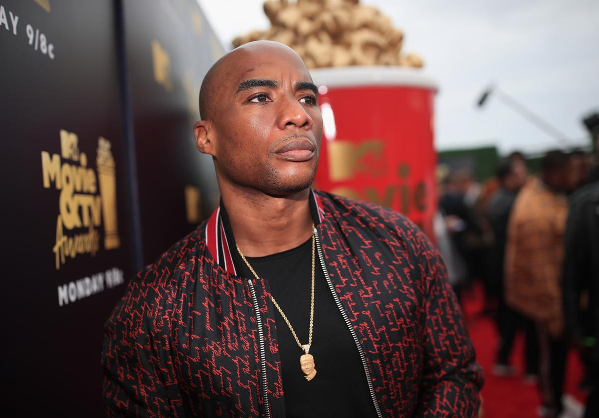 Charlamagne tha God attends the 2018 MTV Movie And TV Awards at Barker Hangar on June 16, 2018 in Santa Monica, California.