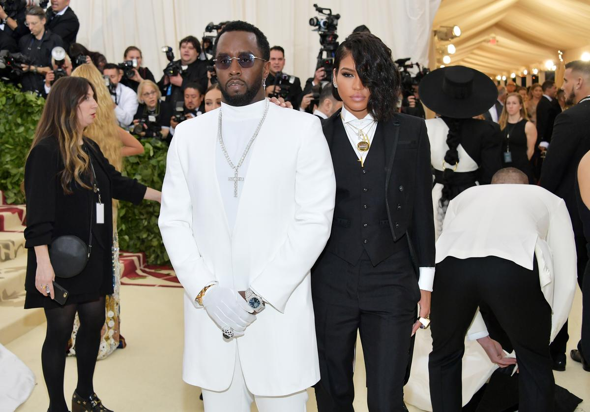 Sean 'Diddy' Combs and Cassie attends the Heavenly Bodies: Fashion & The Catholic Imagination Costume Institute Gala at The Metropolitan Museum of Art on May 7, 2018 in New York City