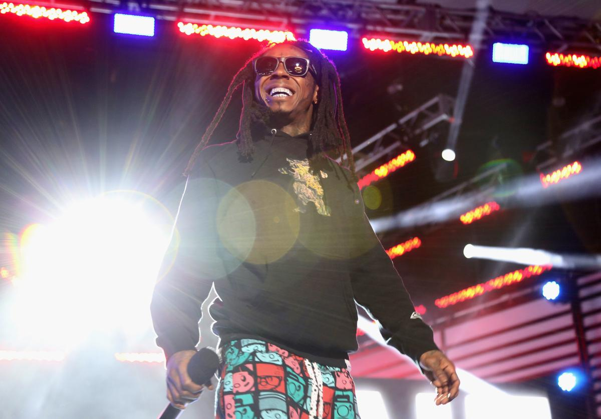 Lil Wayne speaks onstage at the 2014 mtvU Woodie Awards and Festival on March 13, 2014 in Austin, Texas