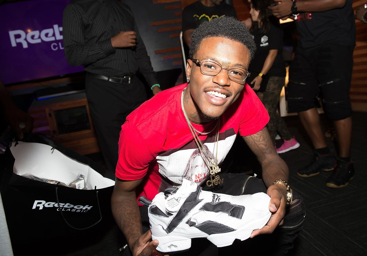 Comedian DC Young Fly attends the Reebok Classic celebrity gifting lounge at Means Street Studios on August 25, 2016 in Atlanta, Georgia.