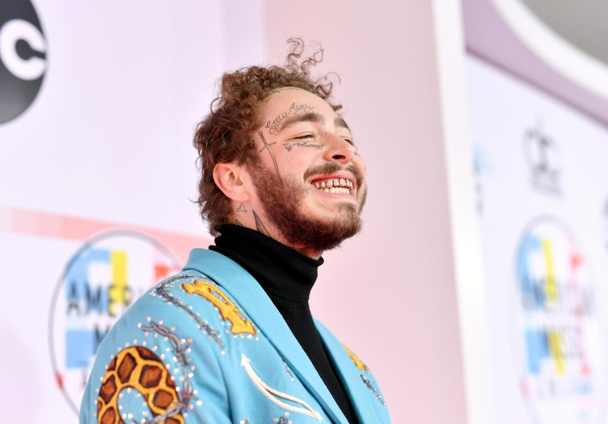 Post Malone attends the 2018 American Music Awards at Microsoft Theater on October 9, 2018 in Los Angeles, California