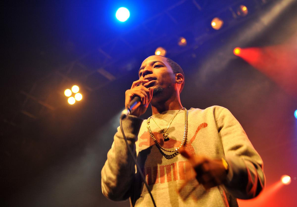 Rockie Fresh performs on stage at The Forum on October 3, 2013 in London, England.