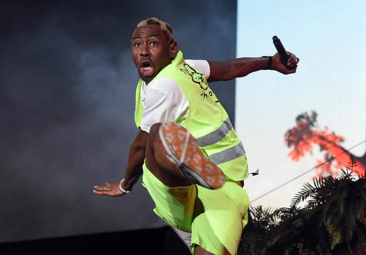 Tyler, the Creator performs onstage during the 2018 Coachella Valley Music And Arts Festival at the Empire Polo Field on April 21, 2018 in Indio, California