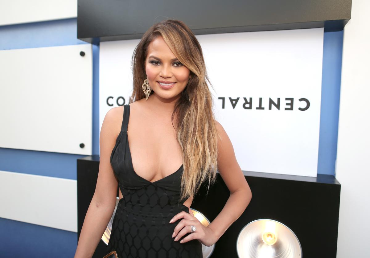 Chrissy Teigen attends The Comedy Central Roast of Justin Bieber at Sony Pictures Studios on March 14, 2015 in Los Angeles, California