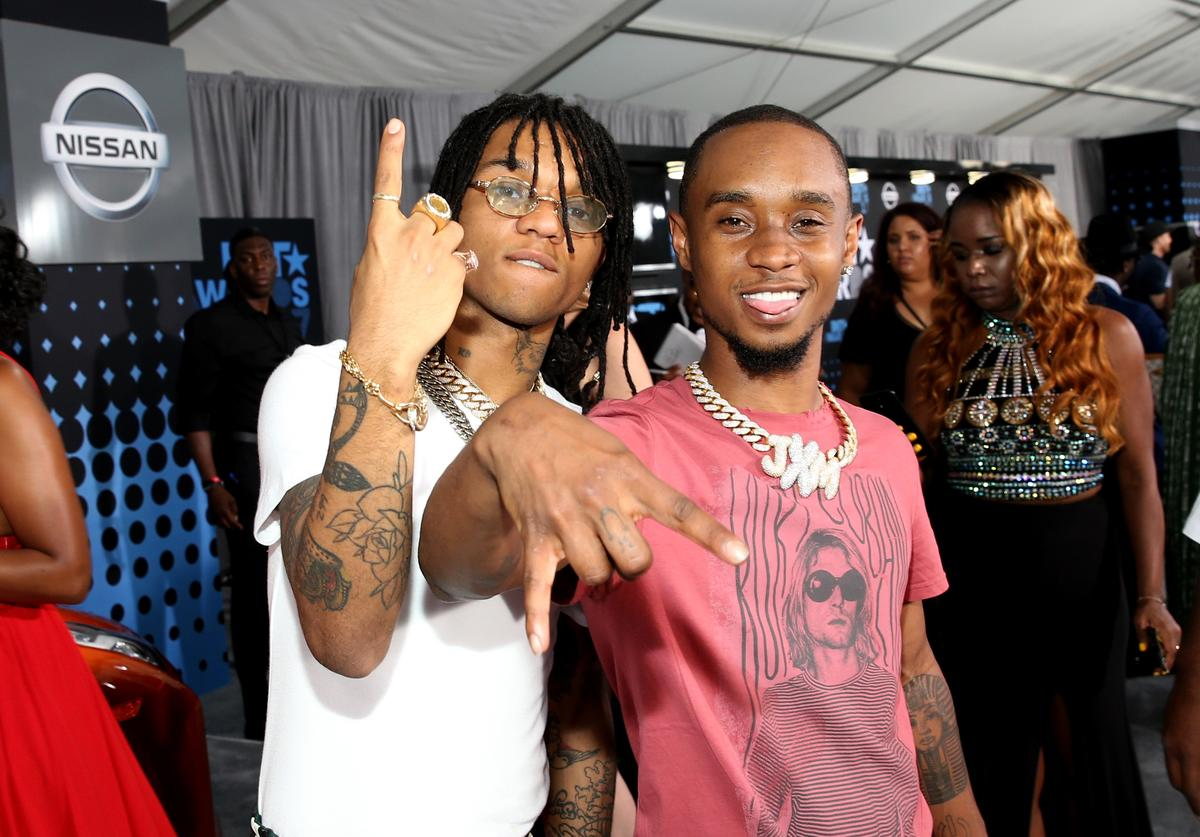 Swae Lee (L) and Slim Jxmmi of Rae Sremmurd at the 2017 BET Awards at Staples Center on June 25, 2017 in Los Angeles, California
