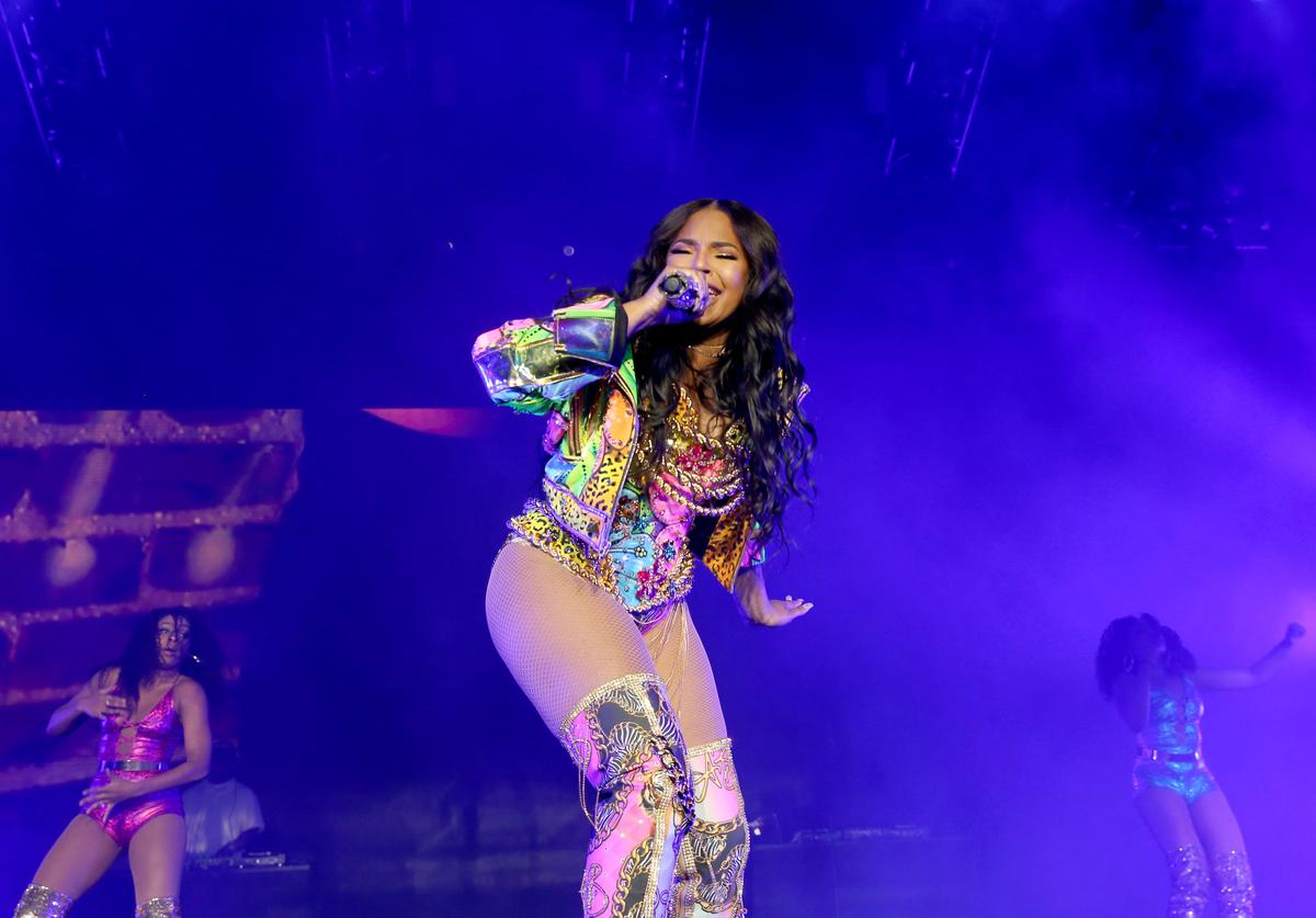 Ashanti performs onstage during the 2018 Essence Festival presented by Coca-Cola - Day 3 at Louisiana Superdome on July 7, 2018 in New Orleans, Louisiana.