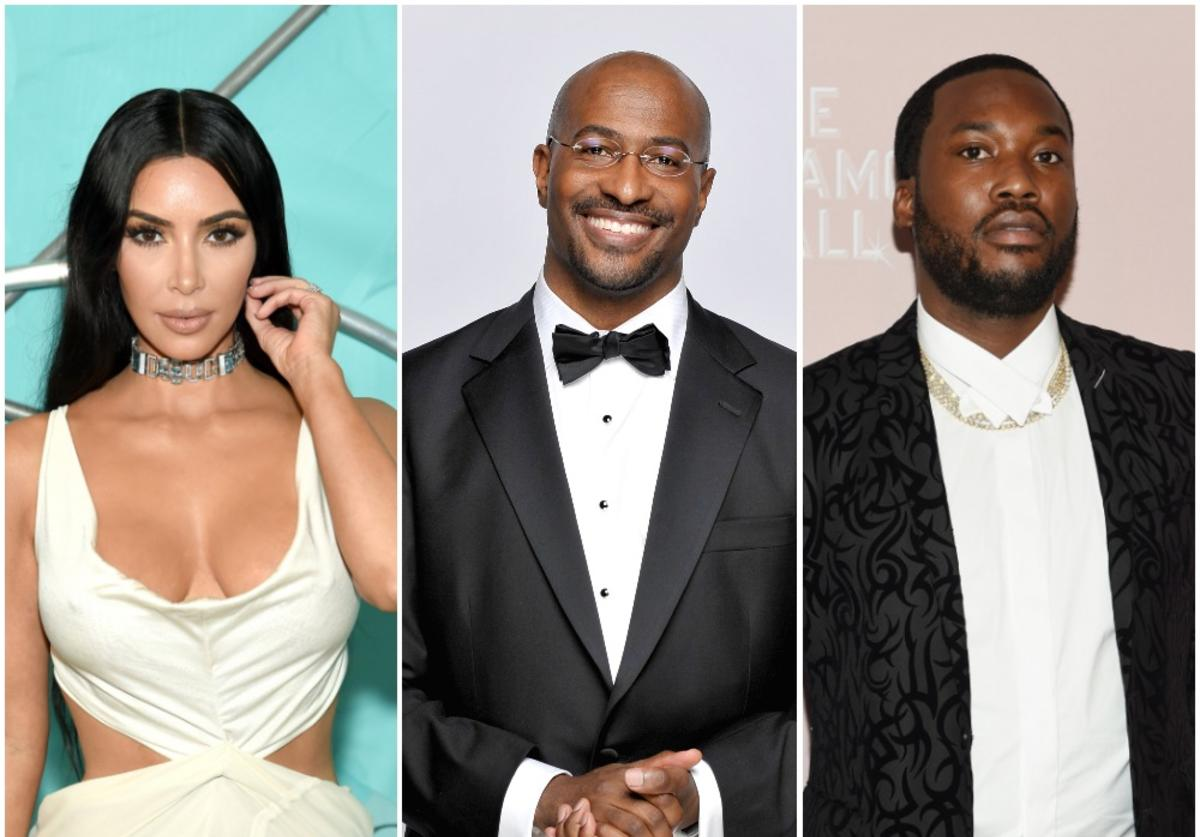 Kim Kardashian West, Van Jones, Meek Mill