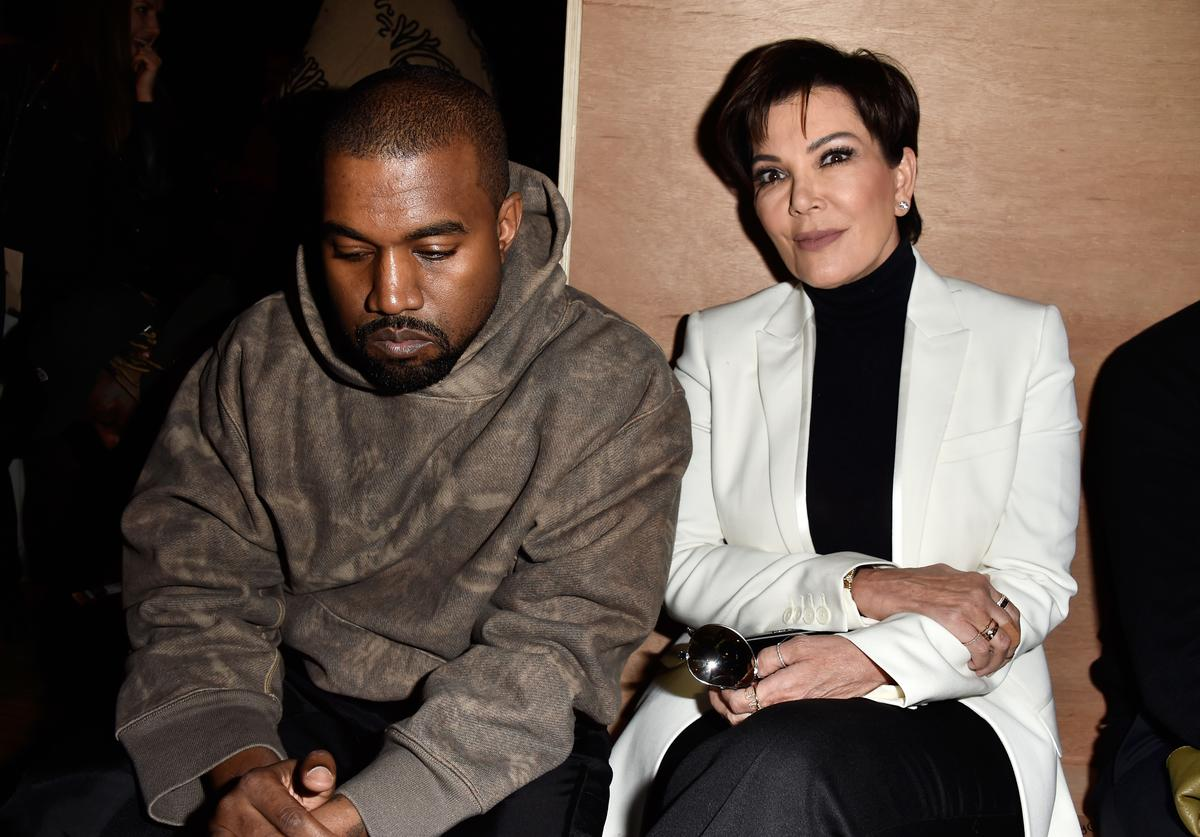 Kanye West and Kris Jenner attend the Givenchy show as part of the Paris Fashion Week Womenswear Fall/Winter 2016/2017 on March 6, 2016 in Paris, France.