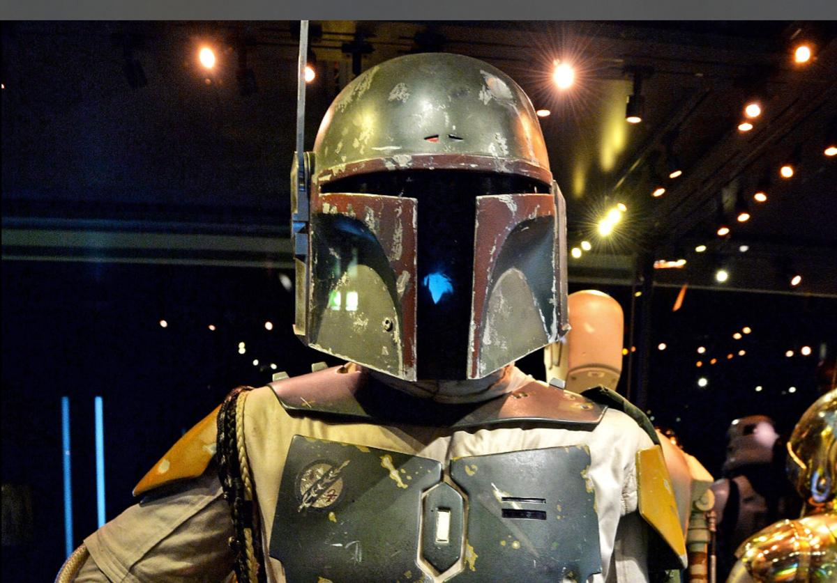 The costume worn by Jeremy Bulloch as Boba Fett is seen during the 'Star Wars Identities' Exhibtion Press Preview & VIP Opening at Odysseum on May 20, 2015 in Cologne, Germany.