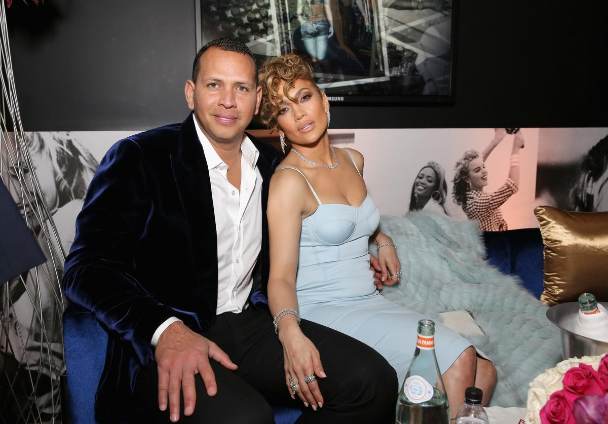 Alex Rodriguez and Jennifer Lopez at the Guess Spring 2018 Campaign Reveal starring Jennifer Lopez on January 31, 2018 in Los Angeles, California