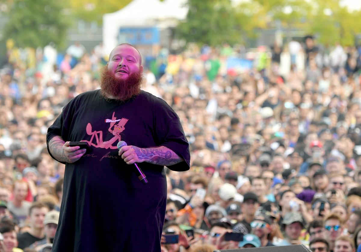 Action Bronson performs onstage during the Meadows Music and Arts Festival - Day 3 at Citi Field on September 17, 2017 in New York City.