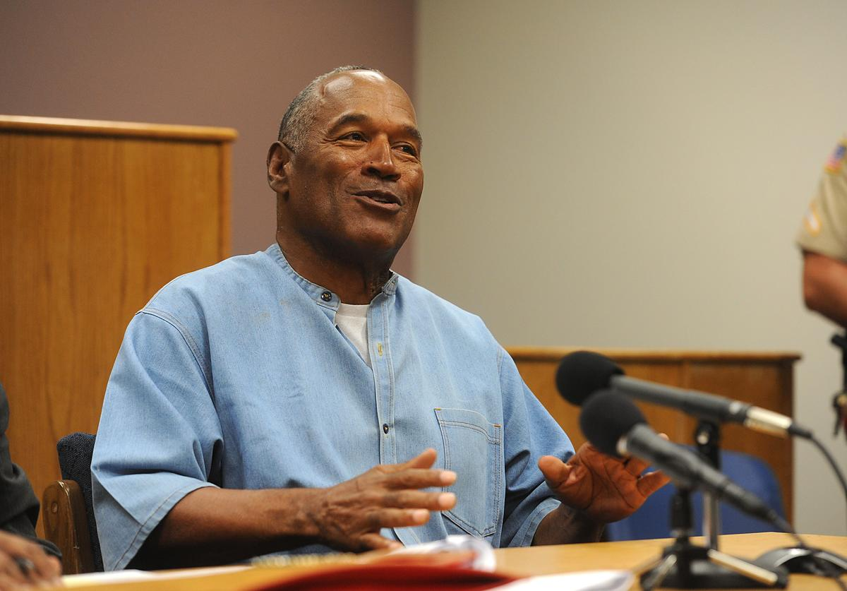 O.J. Simpson attends a parole hearing at Lovelock Correctional Center July 20, 2017 in Lovelock, Nevada