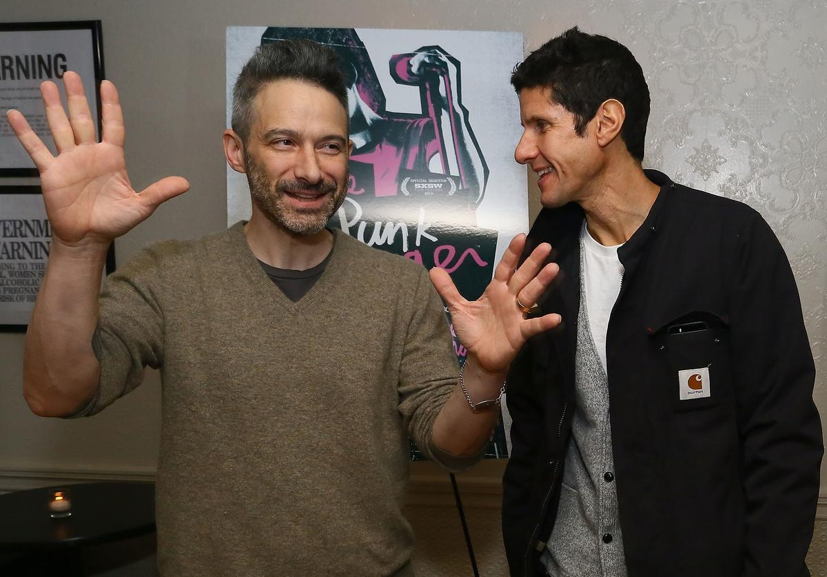 Beastie Boys rappers Adam Horovitz and Michael Diamond attend 'The Punk Singer' screening hosted by Kathleen Hanna at Liberty Hall in the Ace Hotel on November 24, 2013 in New York City