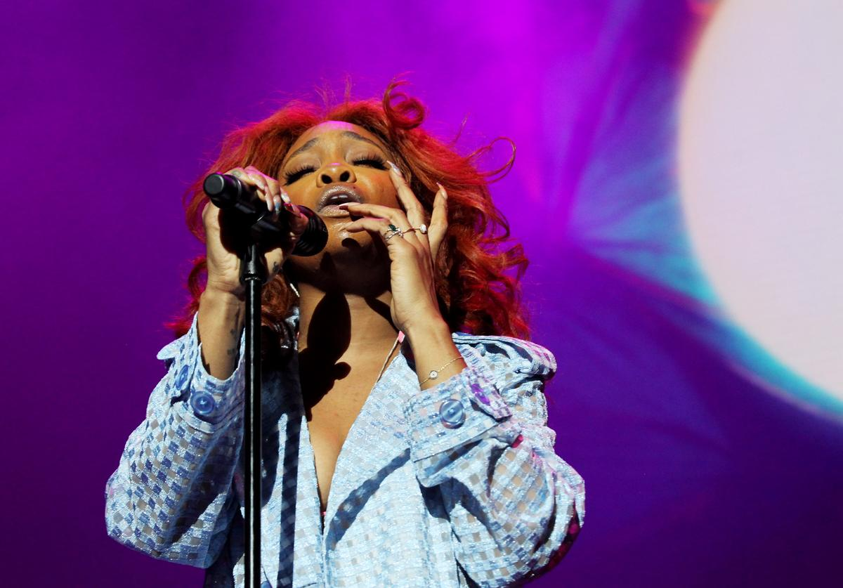 SZA performs at Power 105.1's Powerhouse 2018 at Prudential Center on October 28, 2018 in Newark, New Jersey