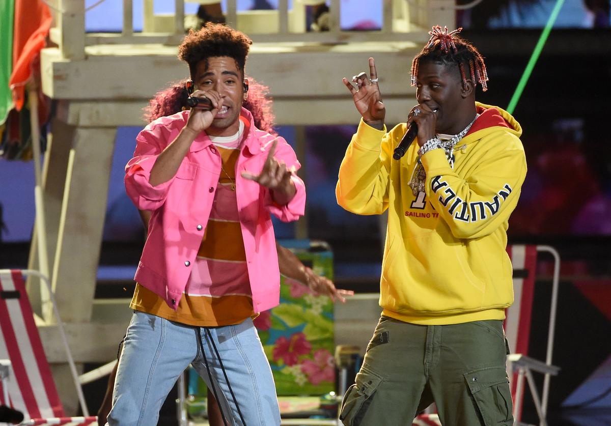Kyle (L) and Lil Yachty perform onstage during the Teen Choice Awards 2017 at Galen Center on August 13, 2017 in Los Angeles, California