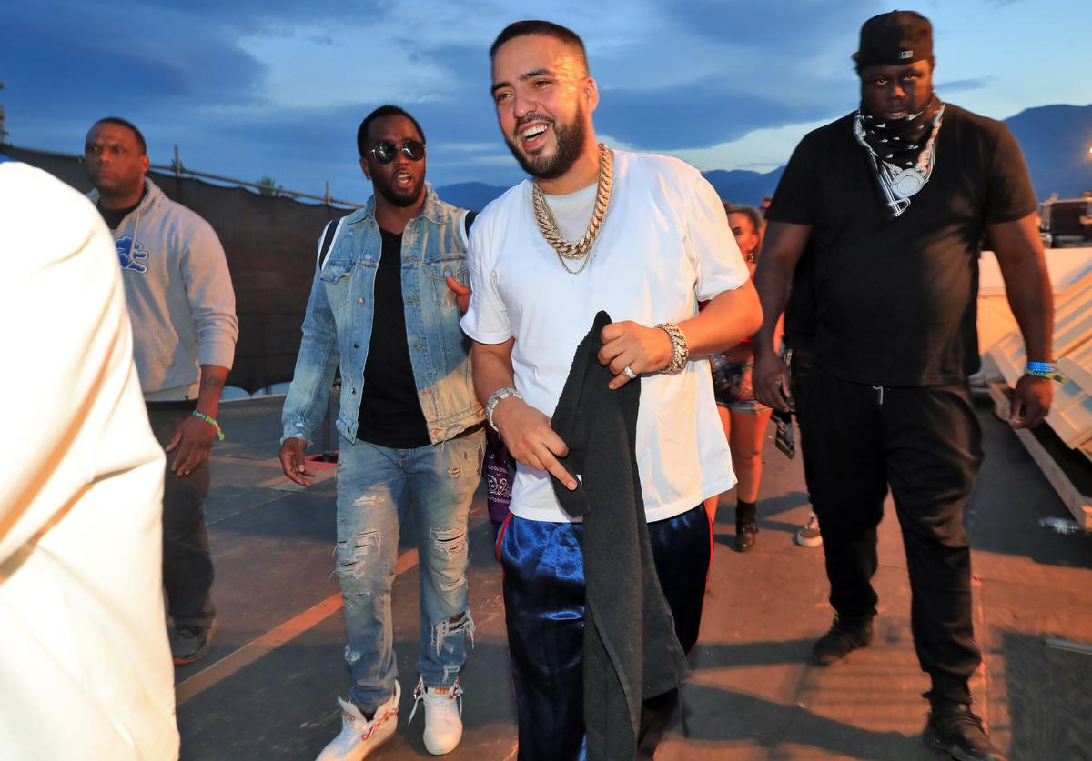 Sean 'Diddy' Combs and French Montana perform onstage during the 2018 Coachella Valley Music and Arts Festival Weekend 1 at the Empire Polo Field on April 15, 2018 in Indio, California.
