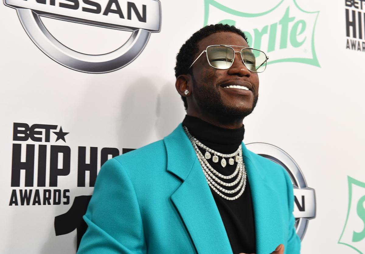 Gucci Mane arrives at the BET Hip Hop Awards 2018 at Fillmore Miami Beach on October 6, 2018 in Miami Beach, Florida