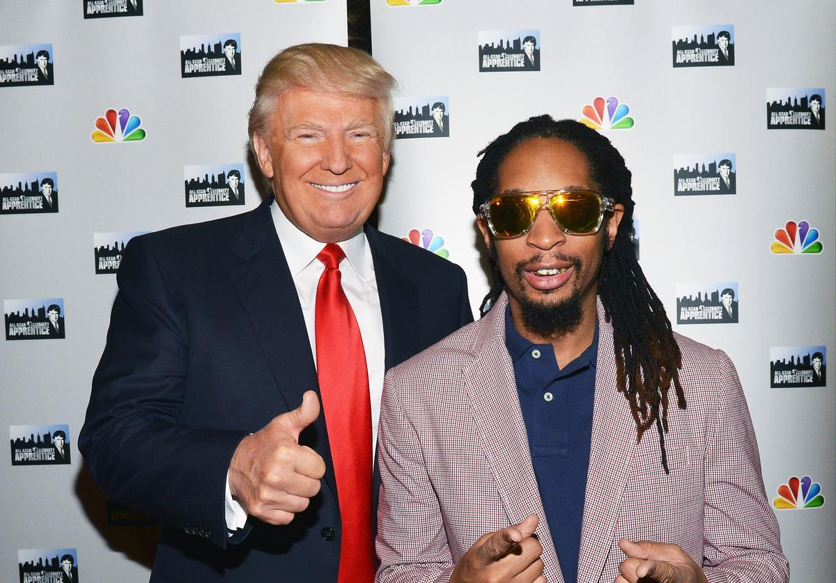 Donald Trump (L) and Lil Jon attend 'All Star Celebrity Apprentice' Red Carpet Event at Trump Tower on May 16, 2013 in New York City