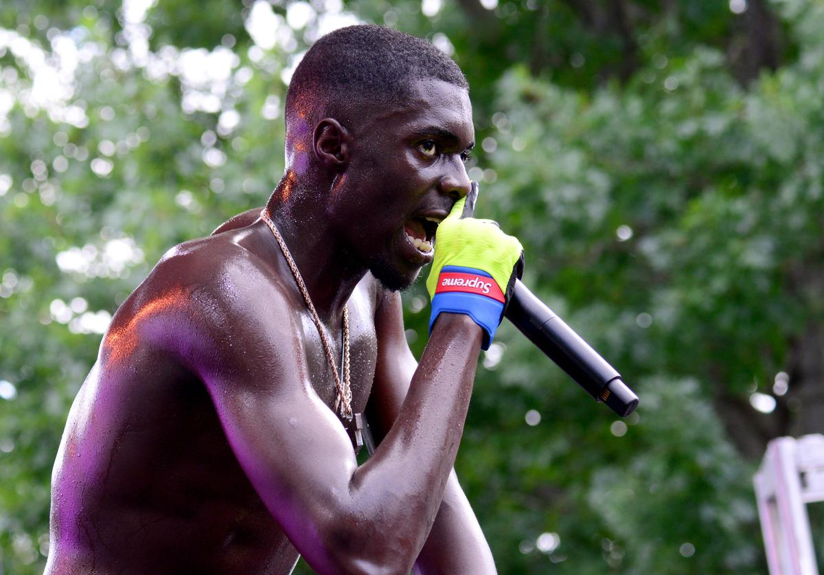Sheck Wes performs onstage during the 2018 Made In America Festival - Day 2 at Benjamin Franklin Parkway on September 2, 2018 in Philadelphia, Pennsylvania.