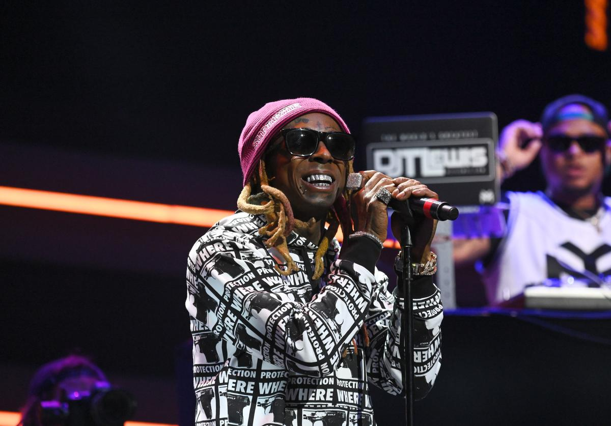 : Lil Wayne performs onstage during the 4th Annual TIDAL X: Brooklyn at Barclays Center of Brooklyn on October 23, 2018 in New York City.
