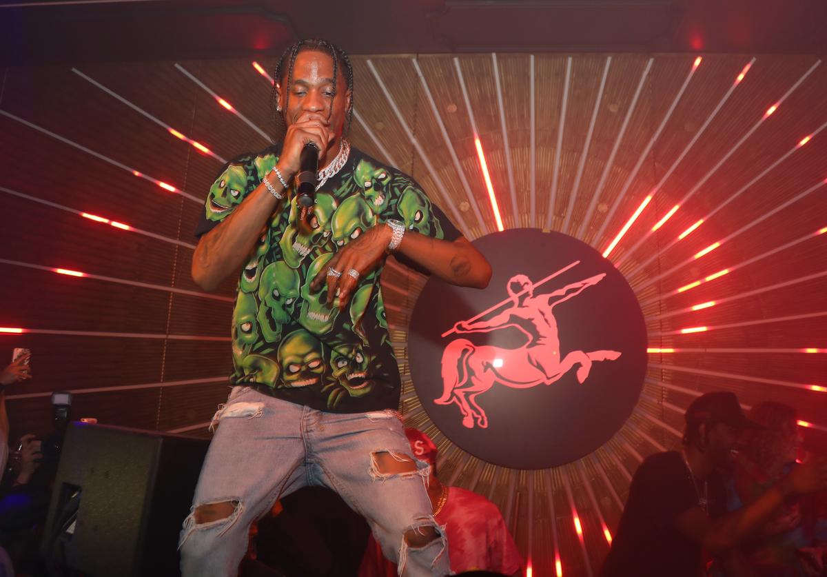 Travis Scott performs during MVP Weekend with Travis Scott at Avenue Los Angeles presented by Remy Martin on February 16, 2018 in Los Angeles, California