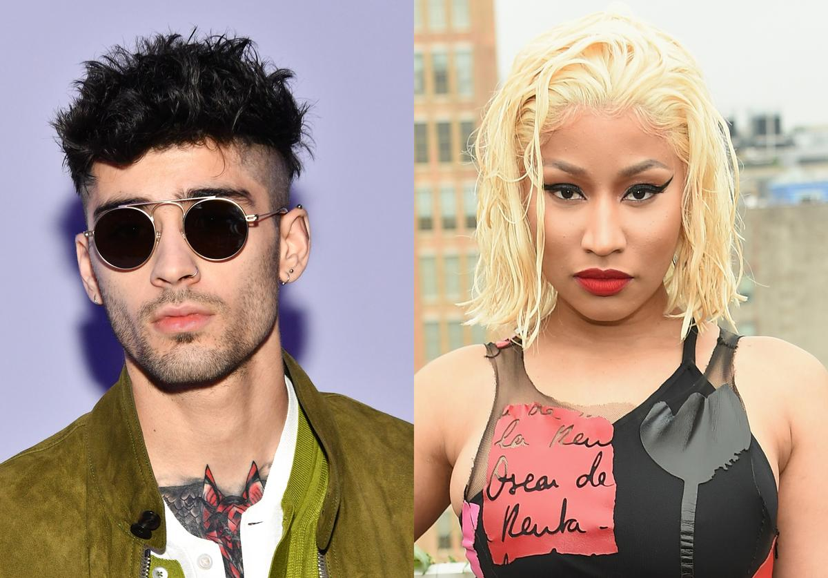 Zayn Malik attends the Tom Ford Women's Fall/Winter 2018 fashion show during New York Fashion Week at Park Avenue Armory on February 8, 2018 in New York City. Rapper Nicki Minaj attends the Oscar De La Renta front Row during New York Fashion Week: The Shows at Spring Studios Terrace on September 11, 2018 in New York City.