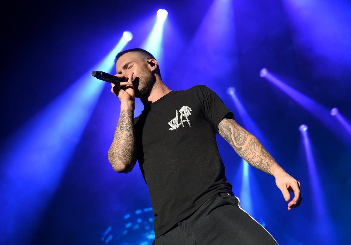 Adam Levine of Maroon 5 performs during the Capital One JamFest onstage at the NCAA March Madness Music Festival at Hemisfair on April 1, 2018 in San Antonio, Texas.