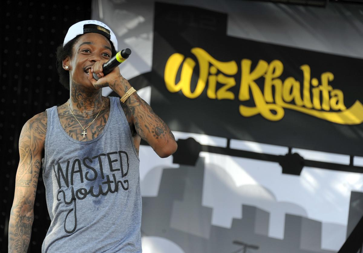 Wiz Khalifa performs during Day 3 of the Coachella Valley Music & Arts Festival 2011 held at the Empire Polo Club on April 17, 2011 in Indio, California