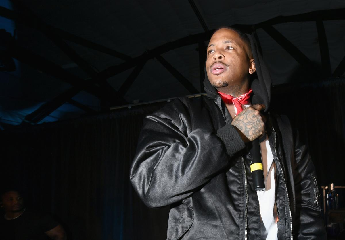 YG performs onstage during PUMA X Diamond Supply Launch Event on January 24, 2018 in Los Angeles, California.