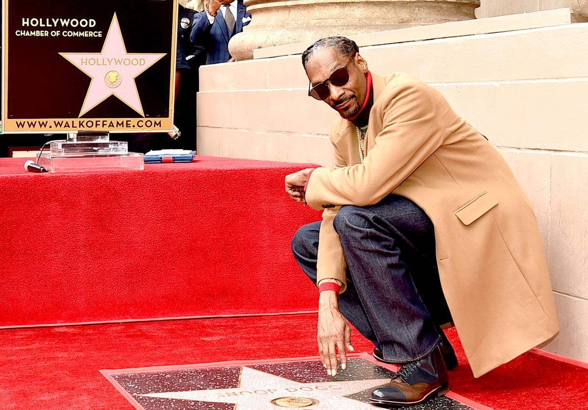 Snoop Dogg is honored with a star on The Hollywood Walk Of Fame on Hollywood Boulevard on November 19, 2018 in Los Angeles, California.