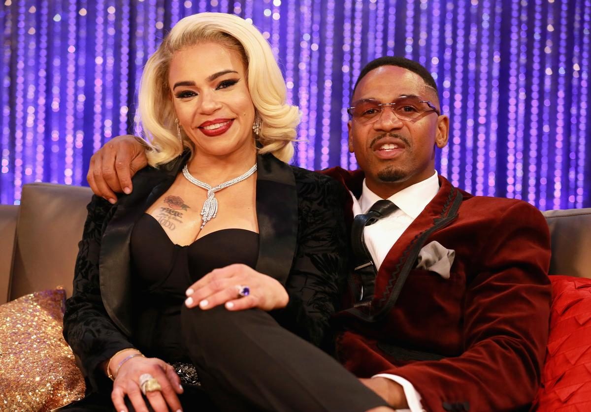 Faith Evans (L) and Stevie J attend the Post Show for the 2018 Soul Train Awards, presented by BET, at the Orleans Arena on November 17, 2018 in Las Vegas, Nevada.