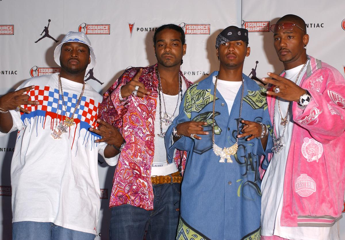 Rappers Cam''ron and the Diplomats arrives at The Source Hip-Hop Music Awards 2003 at the Miami Arena on October 13, 2003 in Miami, Florida. The show will air on the BET network on November 11, 2003 at 8:00 p.m.