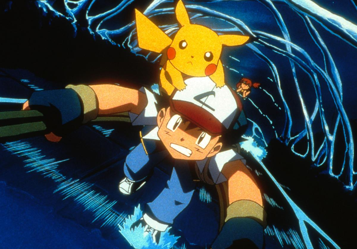 Ash, Pikachu and Misty (background) in 4Kids Entertainment's animated adventure 'Pokemon3,' distributed by Warner Bros. Pictures.