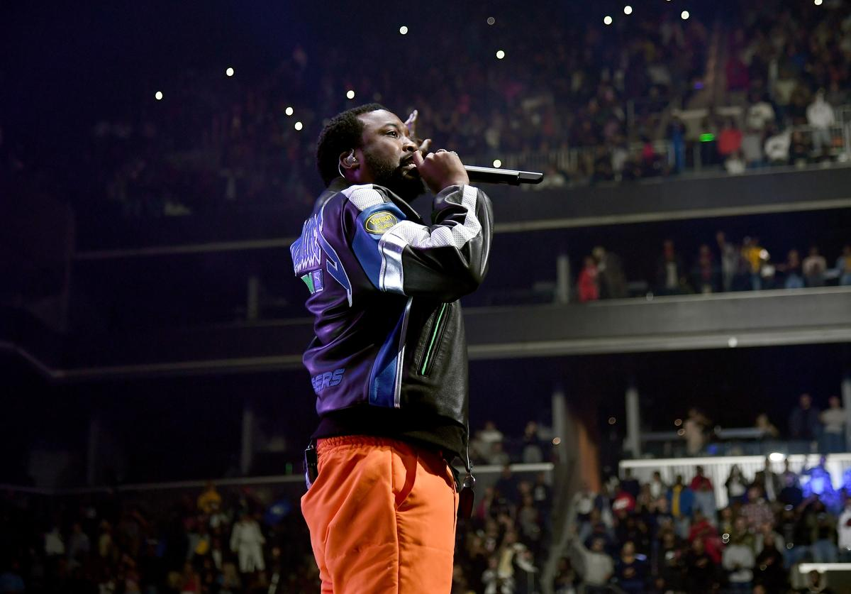 Meek Mill performs onstage during the 4th Annual TIDAL X: Brooklyn at Barclays Center of Brooklyn on October 23, 2018 in New York City