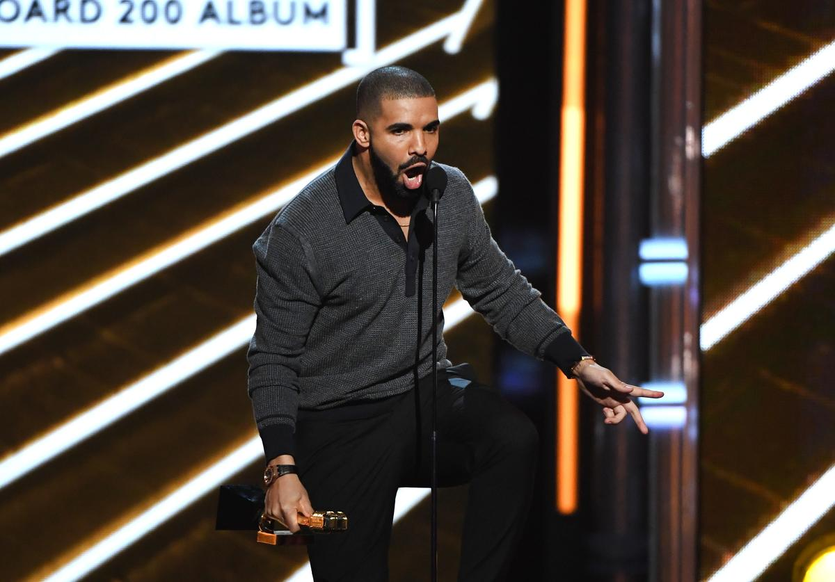 Drake accepts the Top Billboard 200 Album award for 'Views' onstage during the 2017 Billboard Music Awards at T-Mobile Arena on May 21, 2017 in Las Vegas, Nevada