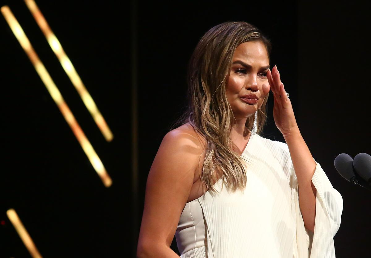 Chrissy Teigen speaks onstage at the 2018 Glamour Women Of The Year Awards: Women Rise on November 12, 2018 in New York City