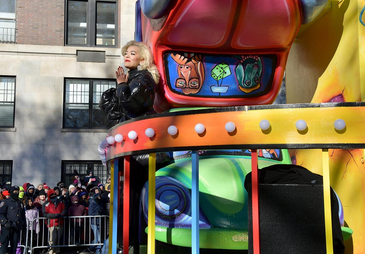 Rita Ora attends the 2018 Macy's Thanksgiving Day Parade on November 22, 2018 in New York City