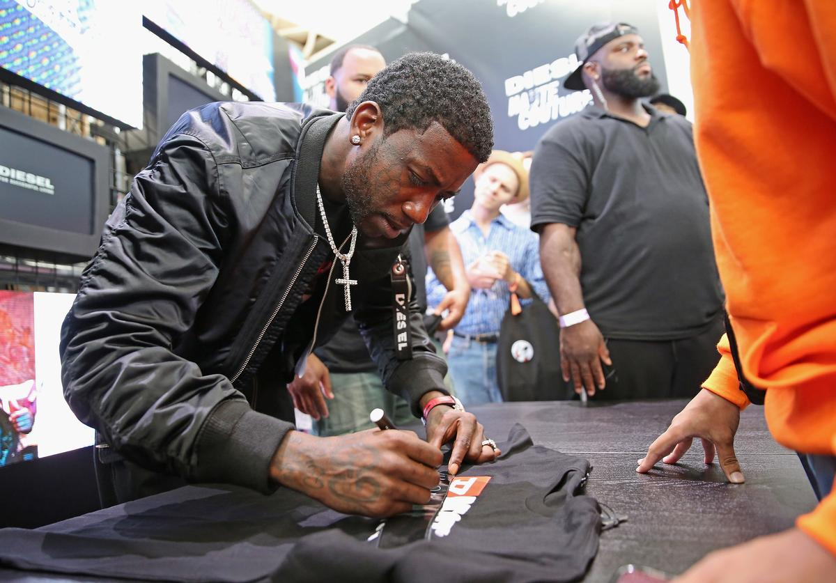 Rapper Gucci Mane attends Hypefest hosted by DIESEL at Brooklyn Navy Yard on October 7, 2018 in New York City.