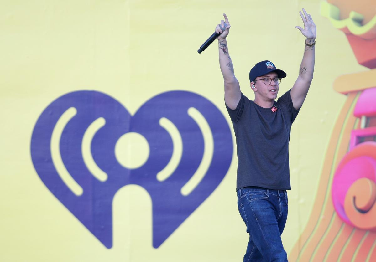 Logic performs onstage during the 2018 iHeartRadio Music Festival Daytime Stage at the Las Vegas Festival Grounds on September 22, 2018 in Las Vegas, Nevada.