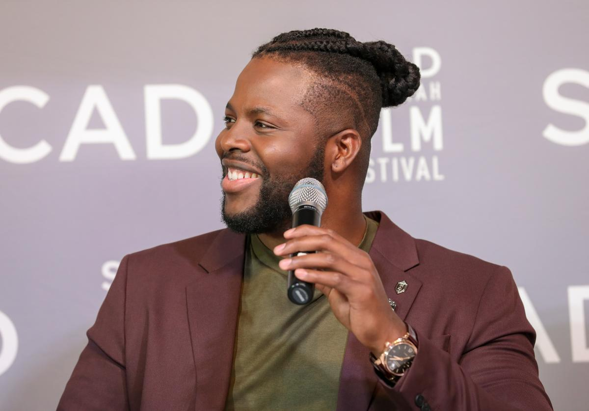 Actor Winston Duke speaks at the Entertainment Weekly Breakout Awards Panel at the 21st SCAD Savannah Film Festival on October 27, 2018 in Savannah, Georgia.