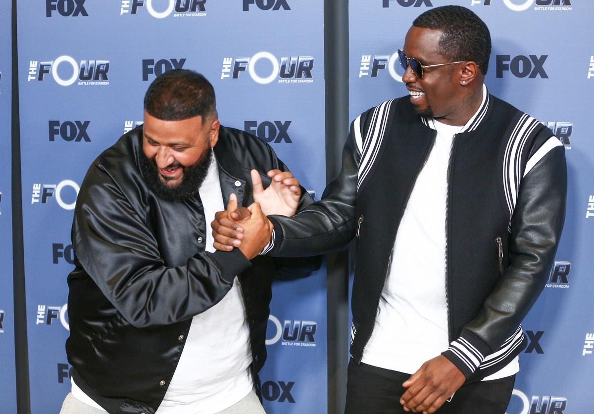 DJ Khaled (L) and Sean 'Diddy' Combs attend the premiere of Fox's 'The Four: Battle For Stardom' Season 2 at CBS Studios - Radford on May 30, 2018 in Studio City, California