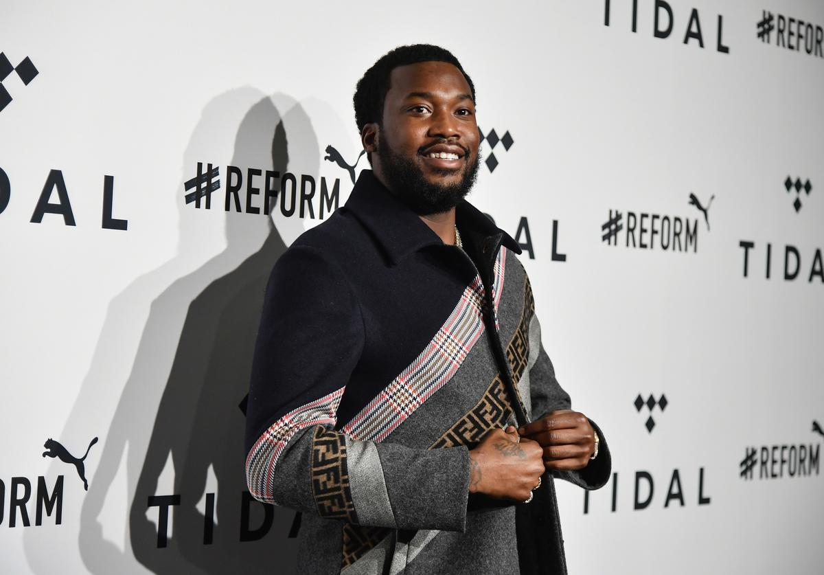 Meek Mill attends the 4th Annual TIDAL X: Brooklyn at Barclays Center of Brooklyn on October 23, 2018 in New York City.