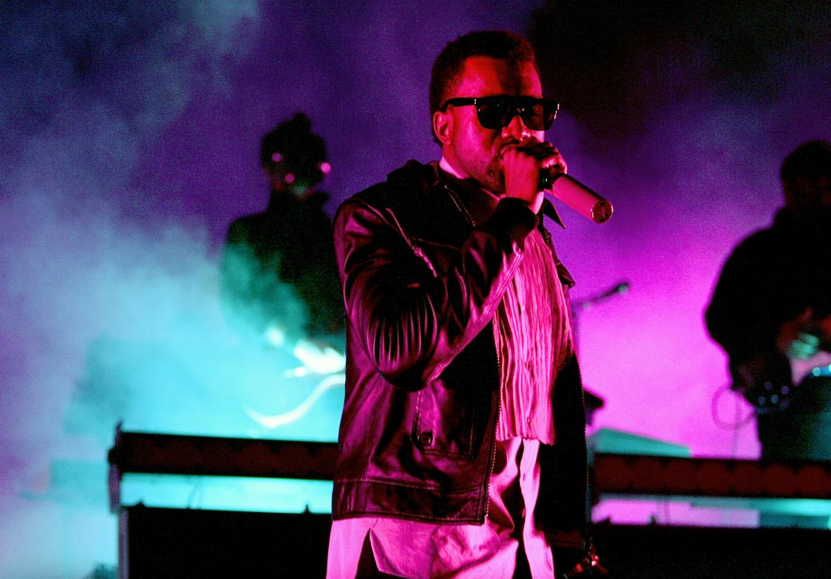 Kanye West performs on stage at the Acer Arena on December 6, 2008 in Sydney, Australia